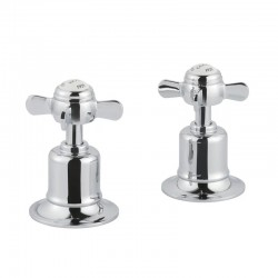 JTP Grosvenor Pinch Panel Valves Pair - Chrome