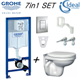 Grohe Wc Frame + Ideal Standard Simplicity Wall Hung Toilet Pan Soft Close Seat