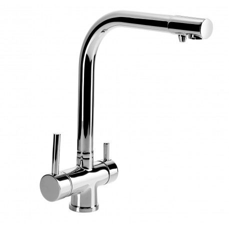 Dente Aster Kitchen mixer with water filter connection chrome