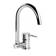 Deante Aster Standing sink mixer with folding U shaped spout