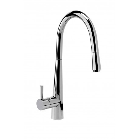 Deante  Aster Standing sink mixer with U shaped spout and extendable handle