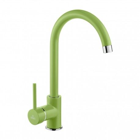 Deante Milin Green standing sink mixer with U spout green