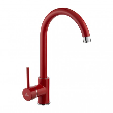 Deante Milin Red standing sink mixer with U spout