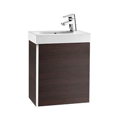 Roca Mini Vanity Unit And Basin Right Hand - Textured Wenge