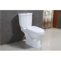 Galaxy Round Close Coupled Wc Toilet Open Backl With Soft Close Seat 3in1 Set