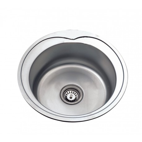 Deante Cornetto 1 - bowl sink with flange-decor steel