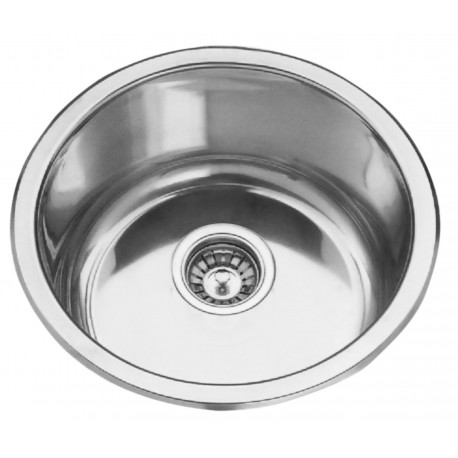 Deante Cornetto 1-bowl round sink without draining board