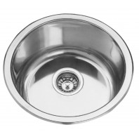 Deante Cornetto 1-bowl round sink without draining board-decor steel