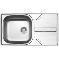 Deante Legato 1-bowl sink with draining board-decor-steel