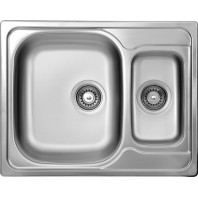 Deante Maredo 1,5-bowl sink without draining board-decor steel