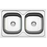 Deante Maredo 2-bowl sink without draining board
