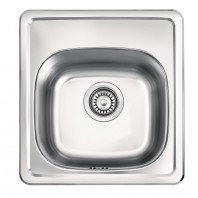 Dante Mercato 1-bowl sink without draining board