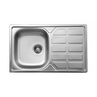 Deante Soul 1-bowl sink with draining board