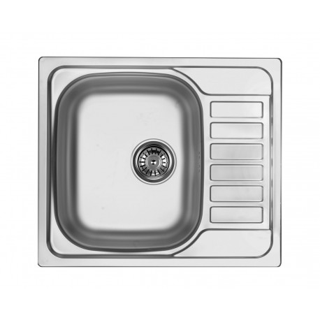 Deante Soul 1-bowl sink with draining short board