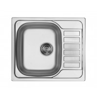 Deante Soul 1-bowl sink with draining short board-decor-steel