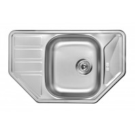 Deante Swing 1 - bowl sink with draining board, trapezoidal