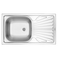 Deante Techno 1-bowl sink with draining board