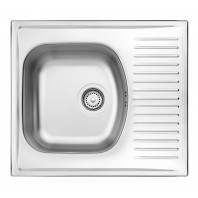 Deante Techno 1-bowl sink with draining short board