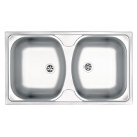 Deante Techno 2-bowl sink without draining board