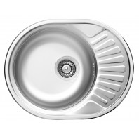 Deante Twist 1 - bowl round sink with short draining board
