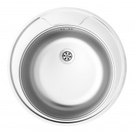 Deante Twist 1-bowl round sink without draining board