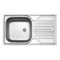 Deante Twist 1-bowl sink with draining board