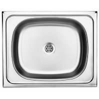 Deante Twist 1-bowl sink without draining board-decor-steel