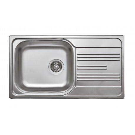 Deante Xylo 1-bowl sink with draining board
