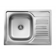 Deante Xylo 1-bowl sink with draining short board