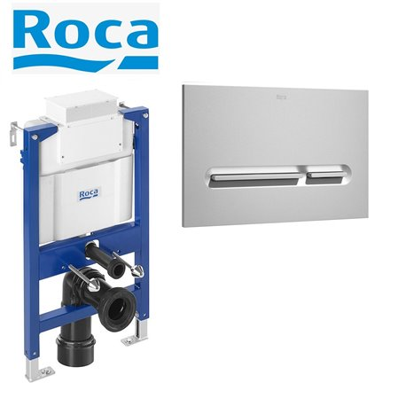 Roca Duplo 0.82m Concealed Wall Hung Wc Toilet Cistern Frame + Flush Plate 3in1 Set