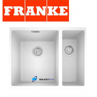 FRANKE SIRIUS WHITE POLAR TECTONITE UNDERMOUNT 1.5 BOWL SQUARE KITCHEN SINK