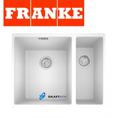 Superbe FRANKE SIRIUS WHITE POLAR TECTONITE UNDERMOUNT 1.5 BOWL SQUARE KITCHEN SINK