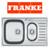 Franke Polar Double 1.5 Bowl Drainer & Waste Stainless Steel Linen Kitchen Sink