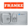 FRANKE MIKADO DOUBLE 1.5 BOWL DRAINER STAINLESS STEEL KITCHEN SINK INSET WITH FULL PLUMBING KIT