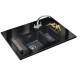 FRANKE SIRIUS BLACK ONYX TECTONITE UNDERMOUNT 1.5 BOWL SQUARE KITCHEN SINK WASTE