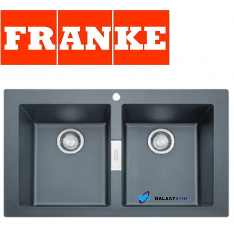 Franke Sirius Black Onyx Tectonite 2.0 Bowl Square Kitchen Sink Ove...