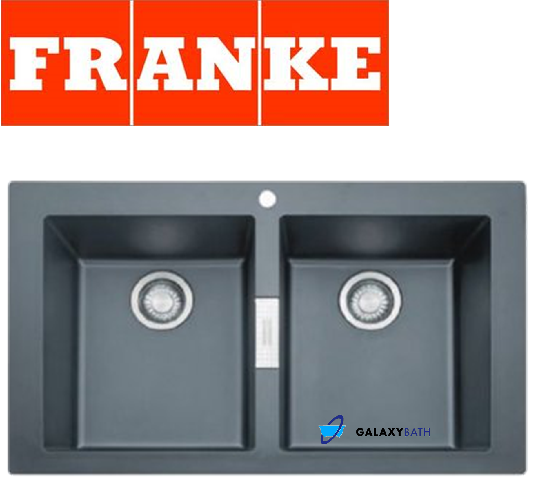 Franke sirius black onyx tectonite 2 0 bowl square kitchen sink ove