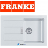 Franke Sirius White Polar Tectonite 1.0 Bowl Square Kitchen Sink Drainer Waste
