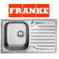 FRANKE SINGLE 1.0 BOWL DRAINER & WASTE STAINLESS STEEL SQUARE KITCHEN SINK INSET