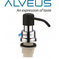 ALVEUS ROUND BLACK SOAP WASHING UP LIQUID DISPENSER PUMP WORKTOP KITCHEN SINK
