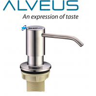 ALVEUS CHROME SOAP WASHING UP LIQUID DISPENSER PUMP ACTION WORKTOP KITCHEN SINK