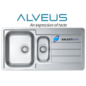Alveus Line 10 Inset 1.5 Bowl Drainer Stainless Steel Kitchen Sink Plumbing Kit