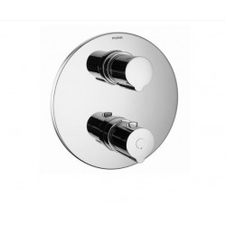 Flova ALLORE ROUND 3-OUTLET SHOWER TRIM ONLY - Chrome