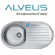 ALVEUS FORM 40 SINGLE 1.0 BOWL DRAINER STAINLESS STEEL LINEN KITCHEN ROUND SINK