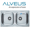 ALVEUS DOUBLE SQUARE 2.0 BOWL STAINLESS STEEL KITCHEN SINK & PLUMBING KIT SET