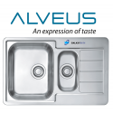 Alveus Line 70 Double 1.5 Bowl Drainer Stainless Steel Kitchen Sink & Plumbing Kit