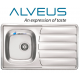 ALVEUS ZOOM 30 SINGLE 1.0 BOWL DRAINER STAINLESS STEEL KITCHEN SINK & PLUMBING KIT WASTE