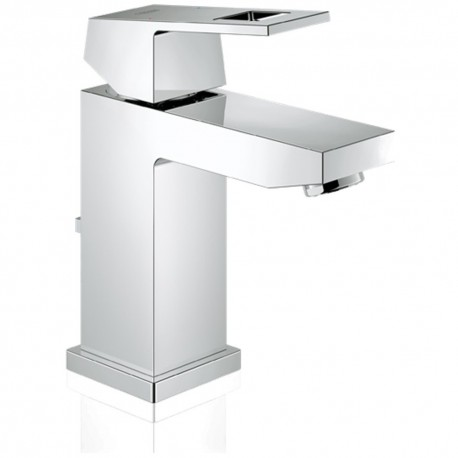 GROHE EUROCUBE CHROME BASIN MIXER TAP WITH POP-UP WASTE SET