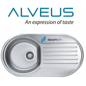 Alveus Form 40 Single 1.0 Bowl Drainer Stainless Steel Kitchen Round Sink & Plumbing Kit