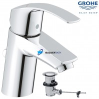 Grohe Eurosmart Single Lever Basin Mixer Tap With Pop Up Waste